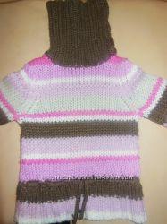 Теплый свитер для девочек 5 - 6 лет