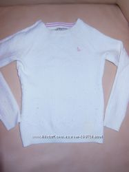 Очень теплый белый свитер 5 - 7 лет