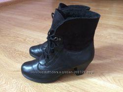 Зимние кожаные ботинки Gabor Германия в идеальном состоянии