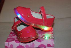 Очень стильные и нарядные туфли для девочки с подсветкой, супинатор, р 21-2