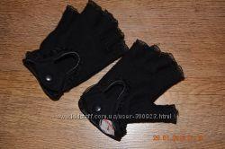 Шикарные кашемировые полу перчатки как новые