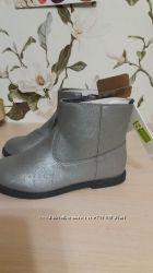 Ботинки полусапожки цвет стальной, Crazy8 , 2 размер, стелька 21, 5 см