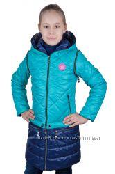 Качественное пальто-куртка-жилетка  р. 32