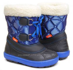 Зимние сноубутсы сапоги ботинки дутики на овчине демар demar furry 20-23