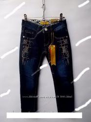 Утепленные джинсы на флисе для девочек  4-12 лет