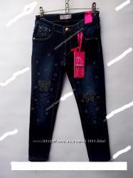 Утепленные джинсы на флисе 4-12 лет