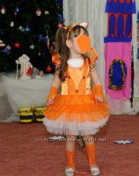 Платье лисички или белочки 3-5 лет