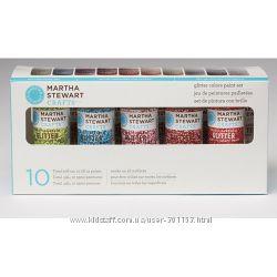 Набір фарби Multi-Surface Glitter Acrylic Craft Paint, 10 шт, Martha Stewar