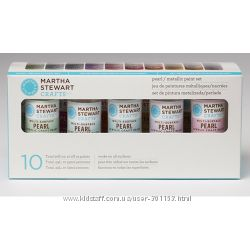 Набір фарби Multi-Surface PearlMetallic Acrylic Craft Paint, 10 шт