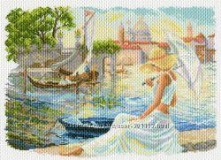 Рисунок на канве для вышивки мулине, бисером