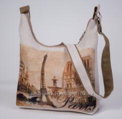 Декоративная сумка из холста