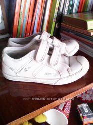 Белые Кожаные кроссовки Next стелька 19 см