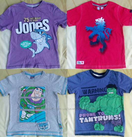Фирменные футболки George, Rebel, Disney