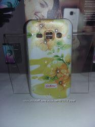 Чехол-книжка, силикон, защитное стекло, пленка-все для Samsung Galaxy J1 J100