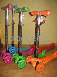Самокат трехколесный I-Trike Mini BB 3-013-4 регул. руль, свет. колеса