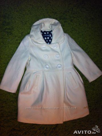 Белое полушерстяное пальто Original Marines Италия