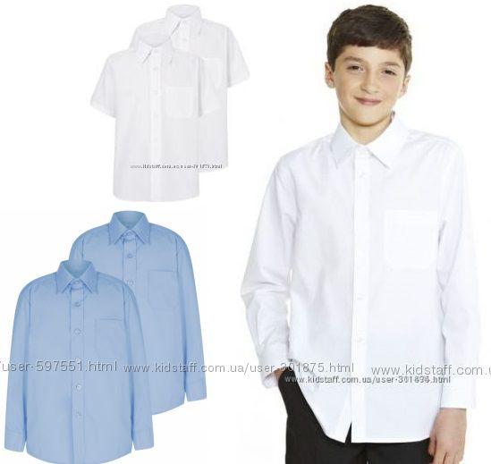 Школьные рубашки George и F&F Regular Fit.