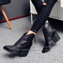 Шикарные ботинки из кожи и конского волоса. Реплика Chanel. Реал. фото