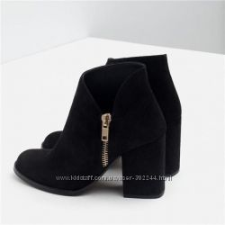 Замшевые ботинки Zara. Реал. фото
