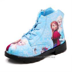 Демисезонные ботиночка для девочек Frozen. Реал. фото