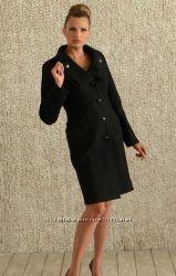 Черное классическое пальто 36 S- 38 M 42-44. Натуральная шерсть