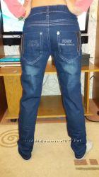 Брюки джинсы школьные рост 128-158 см