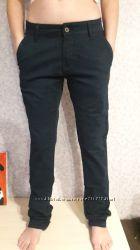 Джинсы брюки зауженные синие деми W 27-38 L 34