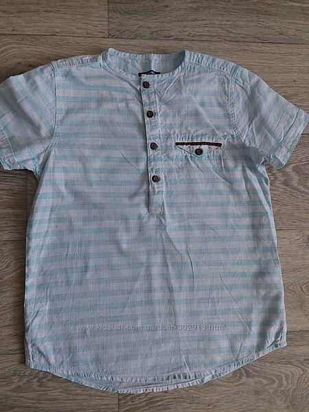 Рубашка LC Walkiki на мальчика 7-8 лет