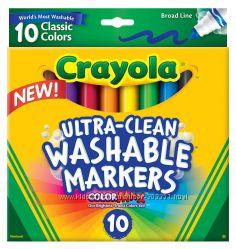 Crayola смываемые фломастеры 10 цветов из Америки. Самая низкая цена