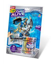 Интерактивная разукрашка Crayola. Герои оживают. Оригинал.