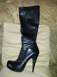 Демисезонные кожаные сапоги Marco Pini 37 размер