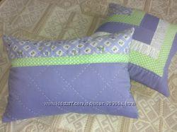 Декоративные лоскутные подушки пэчворк
