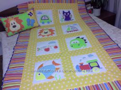 Детское лоскутное одеяло для мальчика