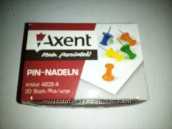 Кнопки цветные Axent 4203-А, 30 шт. кнопки-гвоздики