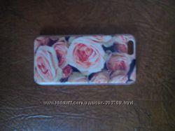 Чехол для Айфон цветки розочки новий