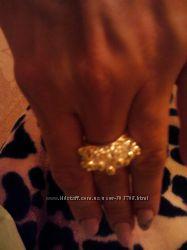 Кольцо с подвесками серебро новое