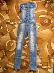 Стильный джинсовый комбинезон Black Orchid. Состояние нового.