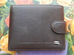 Качественное кожаное мужское портмоне с зажимом