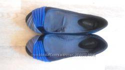 Балетки черно-синие