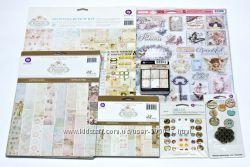 Набор бумаги и декора для скрабукинга от Prima - коллекция Princess.