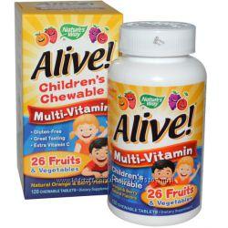 Детские жевательные мультивитамины со вкусом апельсина и ягод