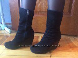 ботинки натуральный мех на платформе.