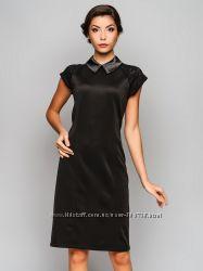 Красивое, стильное, деловое, черное платье, трикотаж
