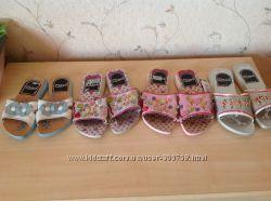 Отличные качественные  шлепанцы для деток, кожа, оригинал Inblu