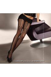 Сексуальные колготы-сетка с имитацией чулок и эффектом шва Livia Corsetti