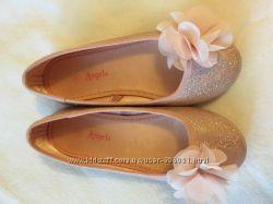 Красивые балетки пудрового цвета р. 28
