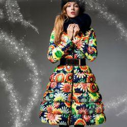 Продам новое пальто пуховик с цветочным принтом подсолнухи . Размер XXL