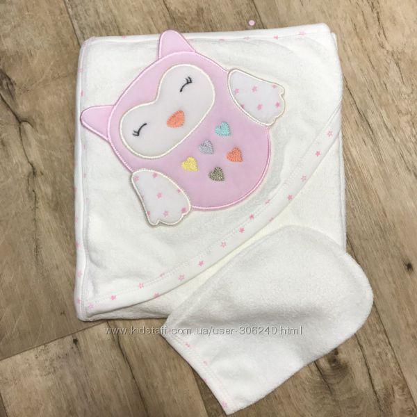 Махровое полотенце уголок для малышей Prince  Совушка Мишка