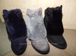 Новинка Ультрамодные ботинки с ушками три цвета 36-41р.