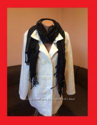 Продам стильное белое пальто большого размера